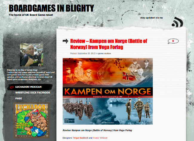 Review – Kampen om Norge – Battle of Norway from Vega Forlag – Boardgames in Blighty
